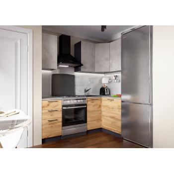 Кухня Акцент-Лофт-1 угловая 1400*1200 мм