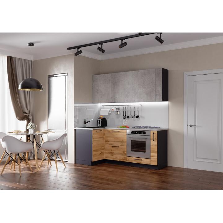 Кухня Акцент-Лофт-1 угловая 1000*1950 мм