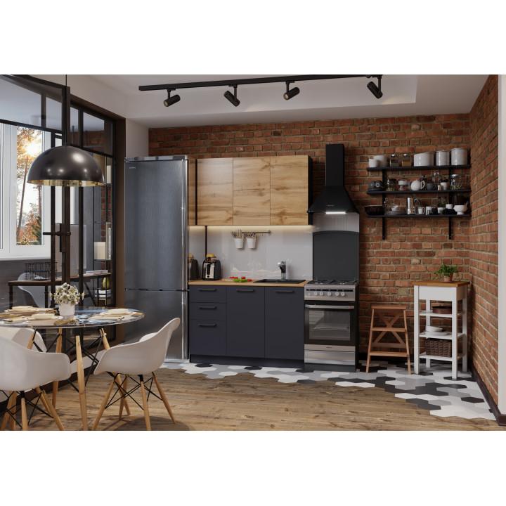 Кухня Акцент-Лофт-2 прямая 1200 мм