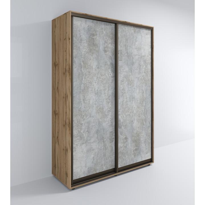 Шкаф Лофт-Сим 2-Д / Цемент