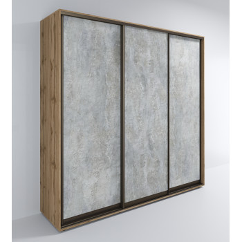 Шкаф Лофт-Сим 3-Д / Цемент