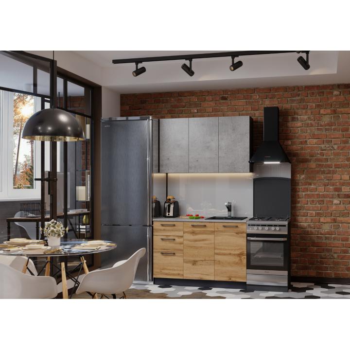 Кухня Акцент-Лофт-1 прямая 1200 мм