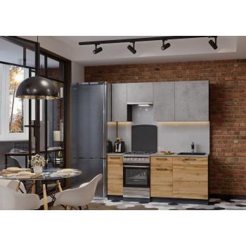 Кухня Акцент-Лофт-1 прямая 1900 мм